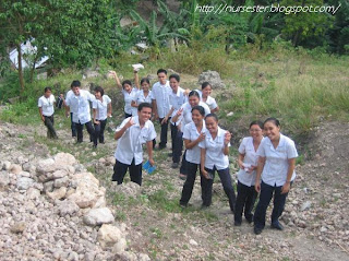 Nursing Students climbing the mountain of Buhisan Cebu City
