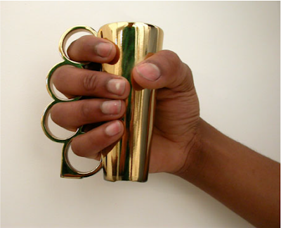 Brass Knuckle Shot Glasses---are the last thing you need when drinking