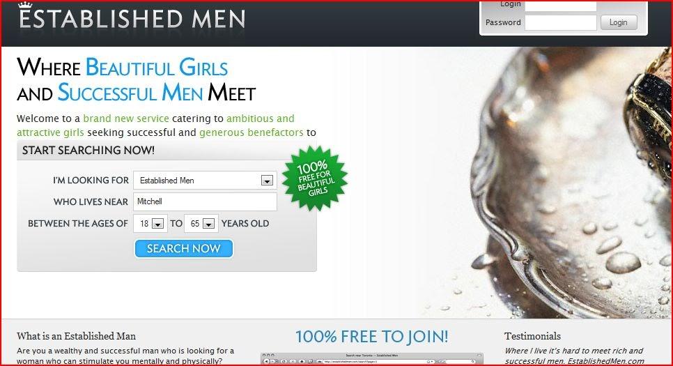Online dating sites established men