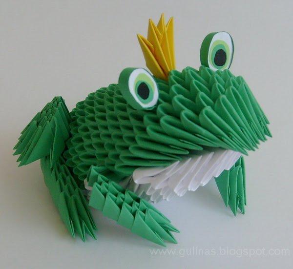 gulnas 39 kunstblog frosch 3d modulares origami. Black Bedroom Furniture Sets. Home Design Ideas