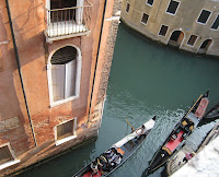 הנוף מהחלון במלון ריבה בוונציה