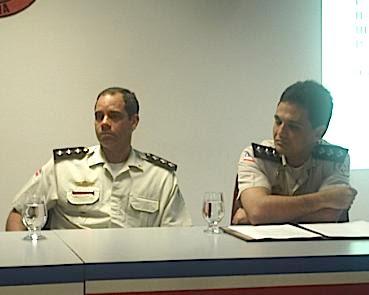 Capitães Paulo marinho e Paulo Cunha