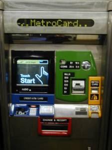 metrocard vending machine number list