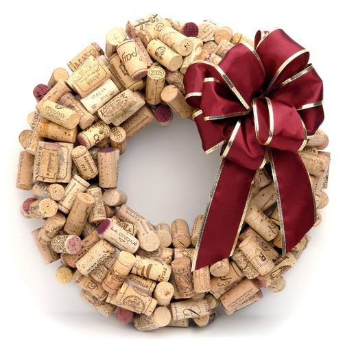 guirlanda de natal de rolhas+cacareconet Decoração de Natal   Dicas de lindas guirlandas