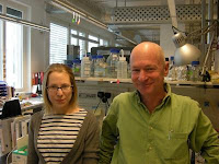 This is Professor Trono with co-author Helen Rowe in their laboratory. Credit: EPFL.