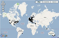 The global distribution of DECIPHER consortium members. The Decipher consortium has around 100 members from countries across the globe.