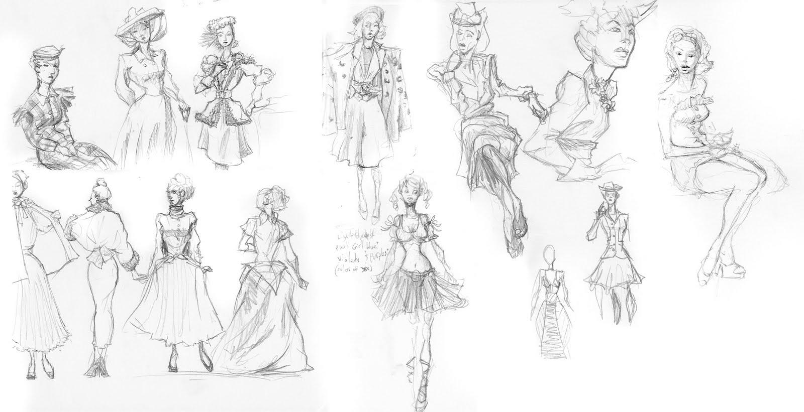 fashion illustration pencil sketches