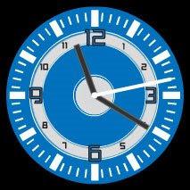 blue modern free flash clock