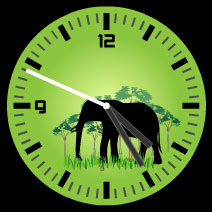 elephant free flash clock
