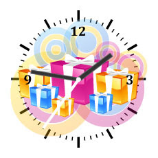 celebration free flash clock preview