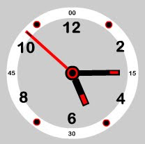simple office flash clock preview