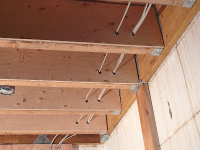 Building A House - A Simple Plan: Rough Wiring and Half-Sistered Joists