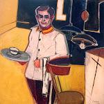 Retrato de Walter, el mozo del café