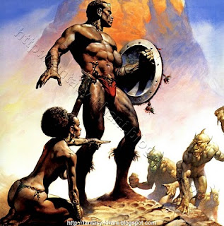 art Boris warrior fantasy vallejo