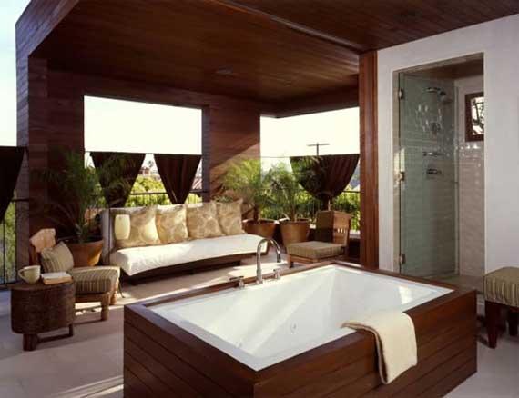 Modern tree house in manhattan beach by kaa design group minimalist home dezine - Tree house bathroom ...