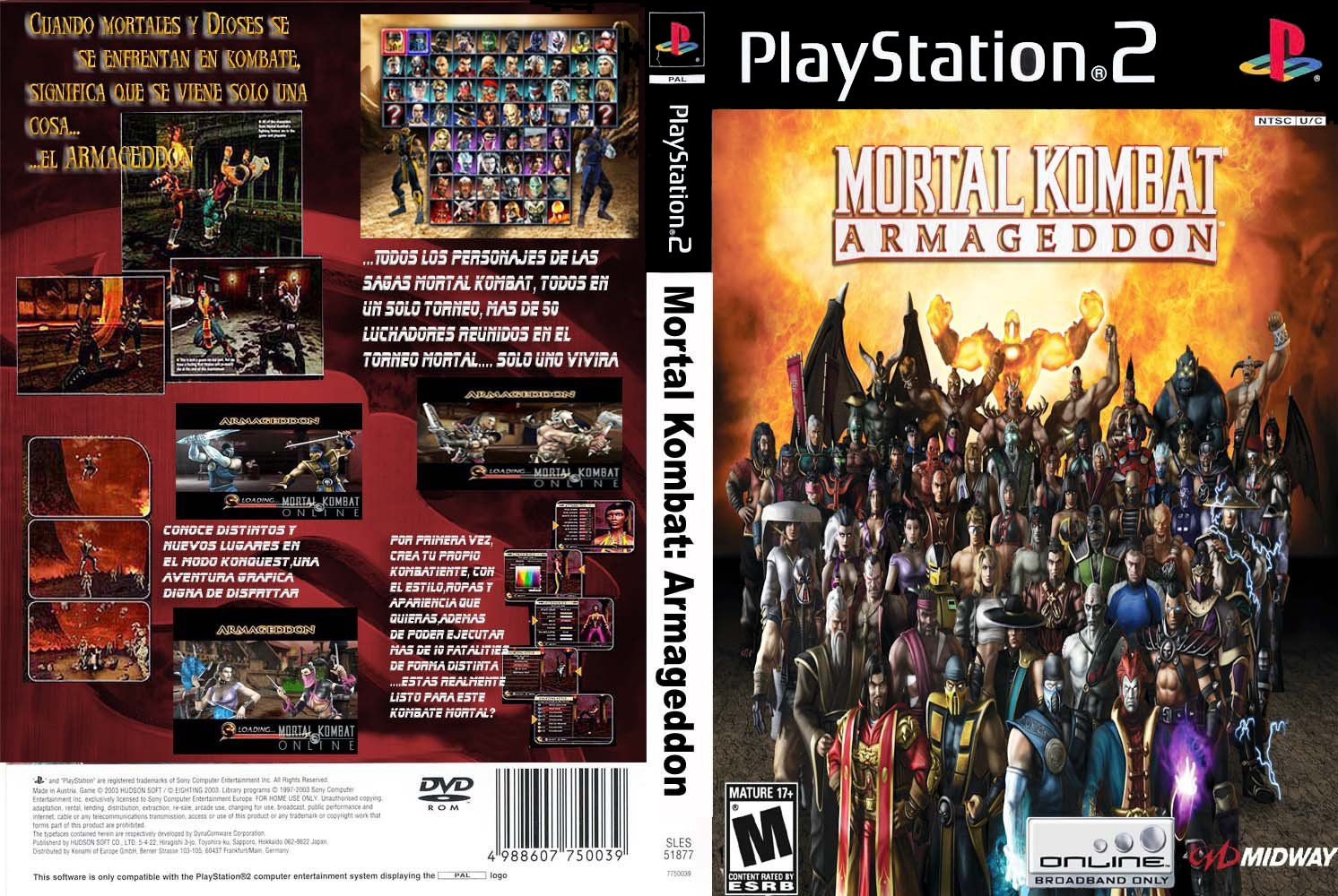 Descargar Mortal Kombat Armageddon [Espa�ol] [PAL] [PS2] [GF