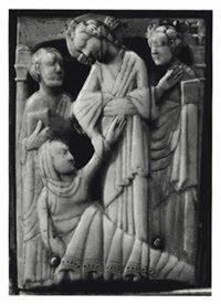 Jésus s'approcha d'elle [la belle-mère de Pierre], la prit par la main, et il la fit lever. La fièvre la quitta.