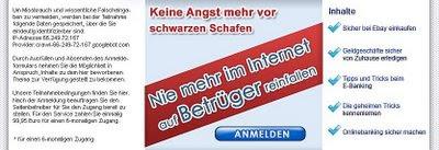 Startseite von abzockschutz.com