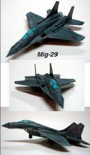 Чертежи бумажной модели МиГ 29
