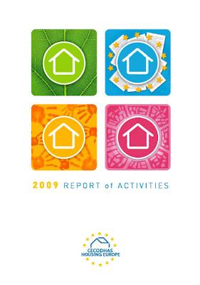 Couverture du rapport d'activités 2009 de CECODHAS Housing Europe