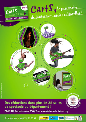 Affiche 2010-2011 de la CartS de l'Atelier des Initiatives