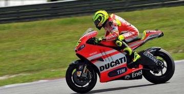 Latihan Resmi Hari Kedua, Rossi Tercecer