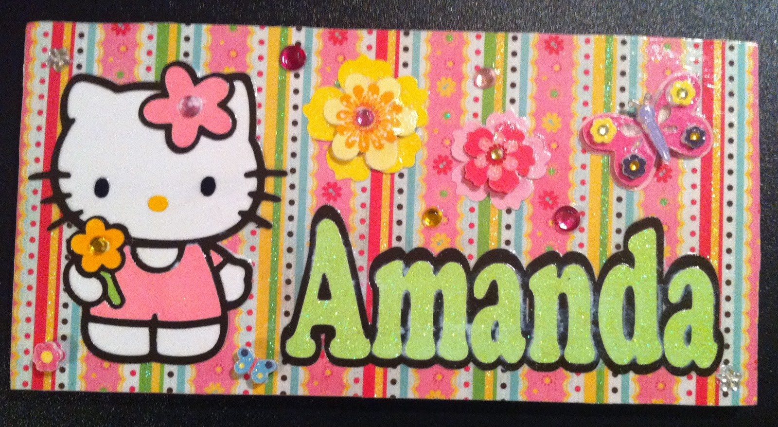 Christas creations hello kitty plaques hello kitty plaques i used hello kitty greetings cricut cartridge m4hsunfo
