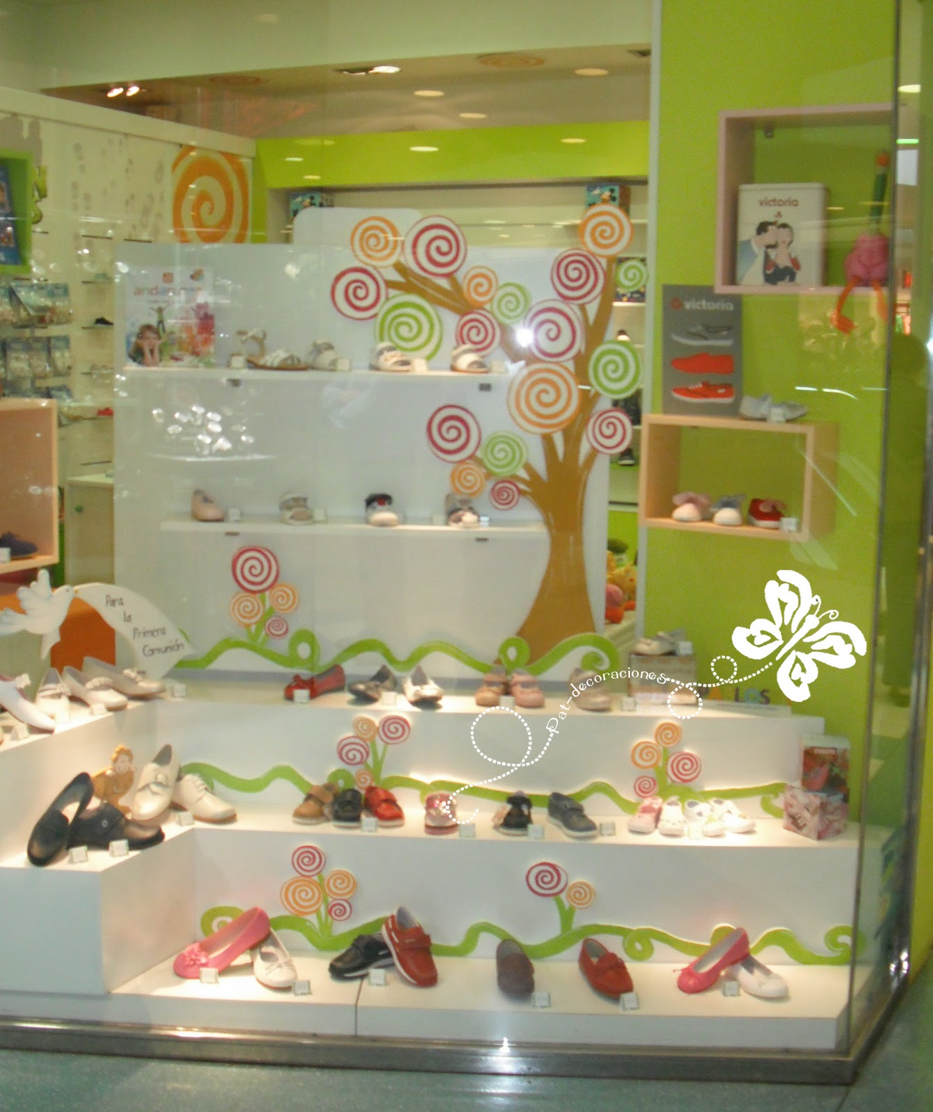 Decoracion zapateria infantil for Decoracion primavera
