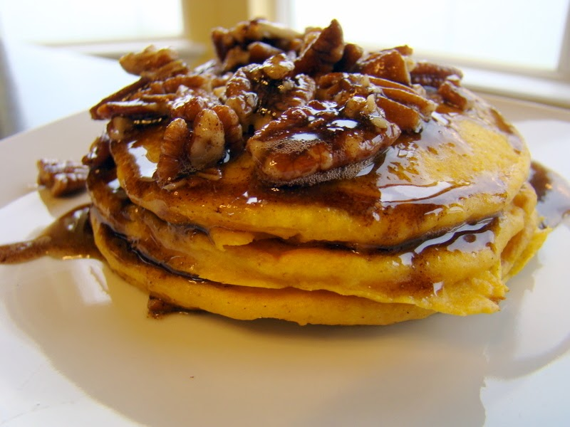 WE EAT: Pumpkin Pancakes with Maple-Pecan-Brown Butter
