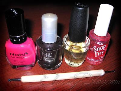 Nail Art Tutorial: Pink + Black Designs