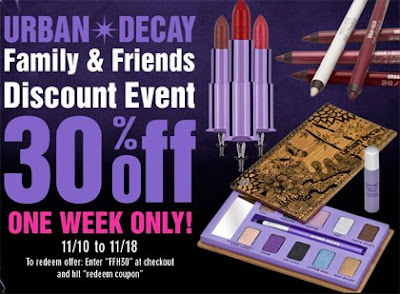 Urban Decay Friends Family Discount