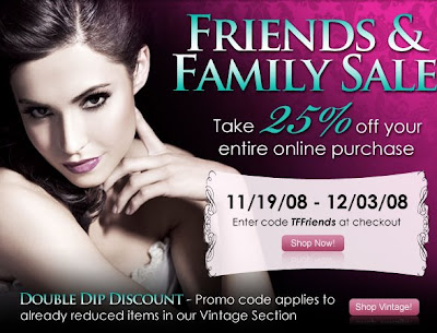 TOO FACE cosmetics Friends Family Sale Coupon