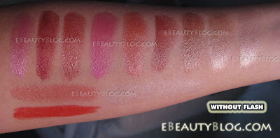 NYX Cosmetic Swatches