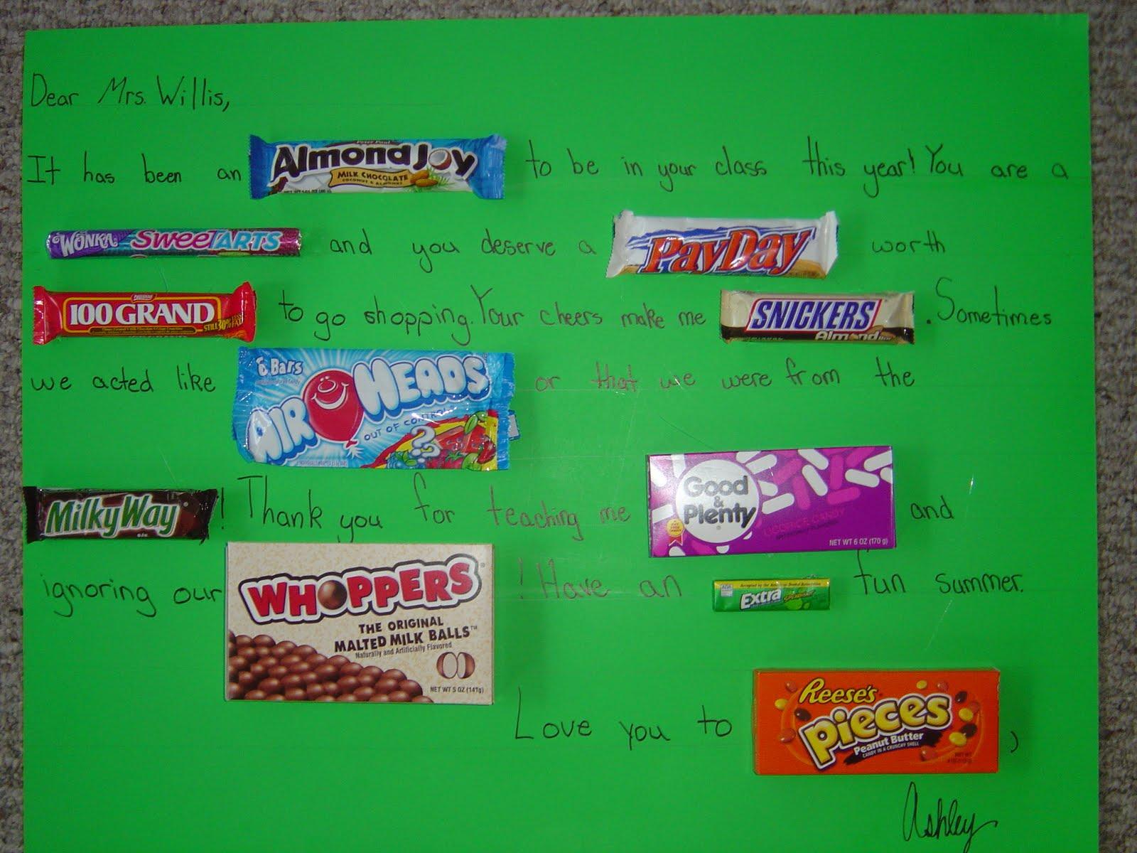 Cindy's Custom Creations: Teacher gifts