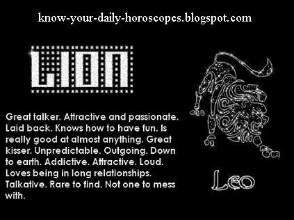 Leo horoscope today celebrity