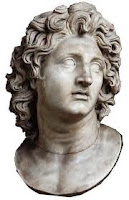 Alexander the Great's surprisingly mopey-looking creepy disembodied head.
