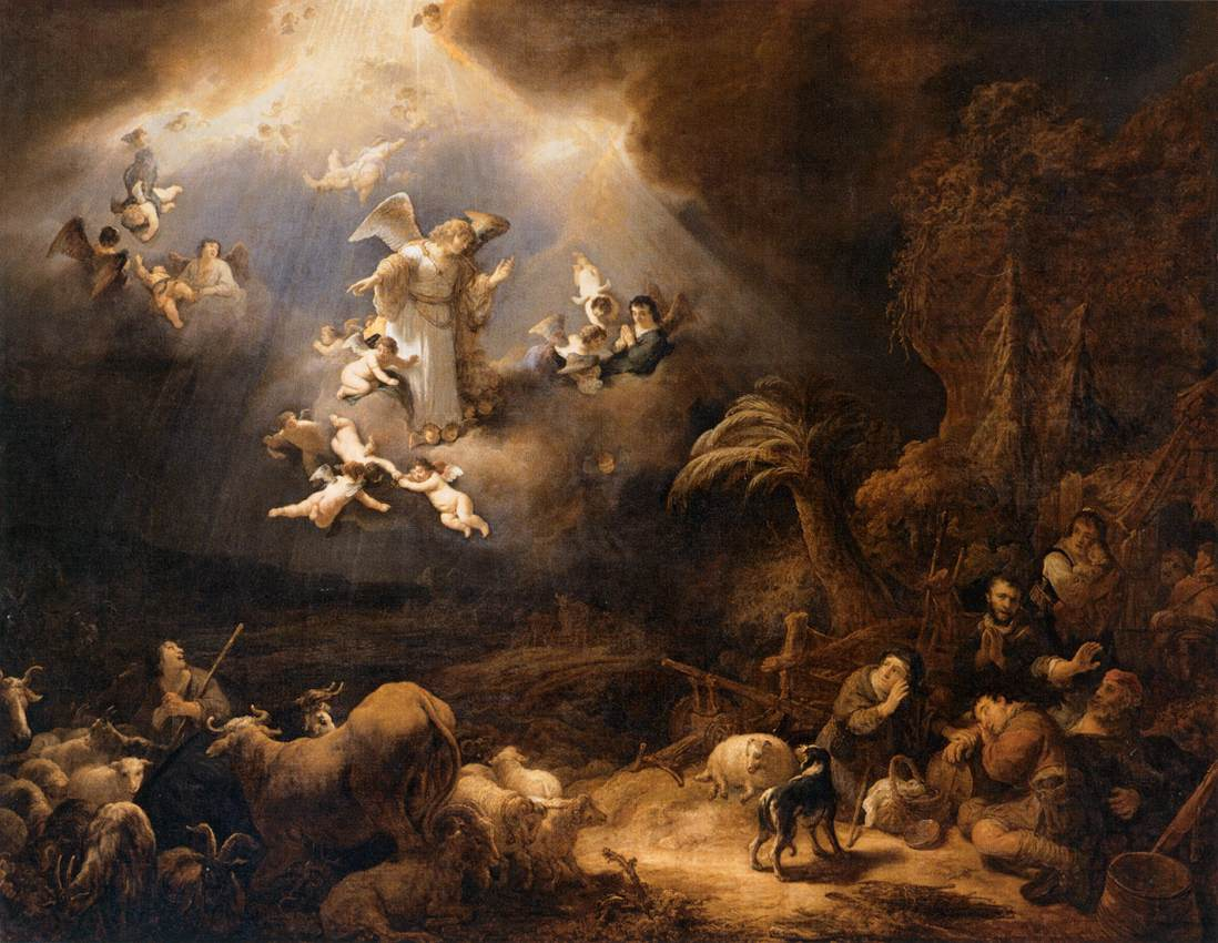 The history of the church by eusebius pamphili a scholarly review angels announcing the birth of jesus christ painted by govert flink image fandeluxe Image collections