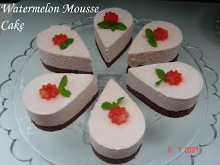 Watermelon Mousse Cake