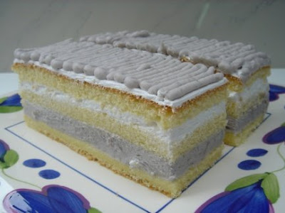 Yam Layer Sponge Cake Recipe