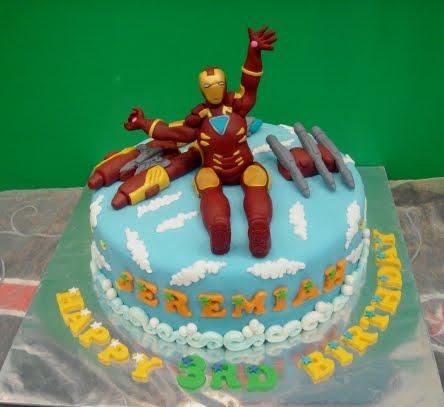 Yochana S Cake Delight Iron Man Cake For Jeremiah