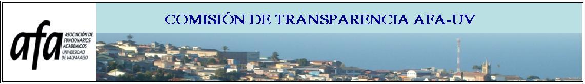 COMISIÓN DE TRANSPARENCIA AFA-UV