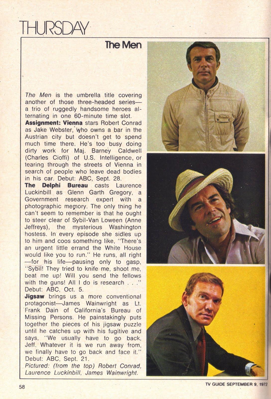 1973 american television series endings for Bureau tv show