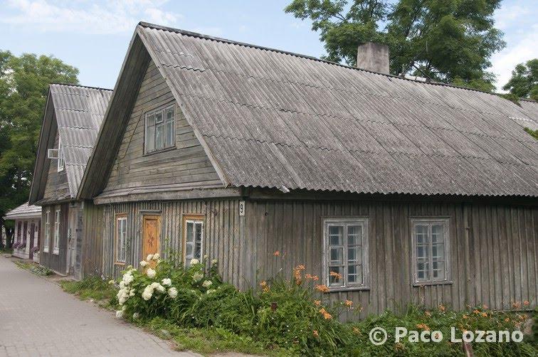 Casas de madera en Trakai