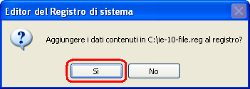 Internet Explorer 7 - Trucco n°2a