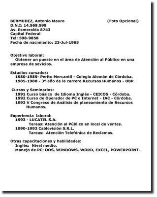 curriculum vitae ejemplos mexico. modelos de curriculum vitae.