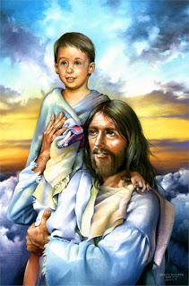 Beautiful Painting of Jesus Christ  and Child Wallpaper Free jesus christ wallpapers and Pictures