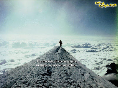 Motivational Wallpaper on life : The rewards of sincere resolves