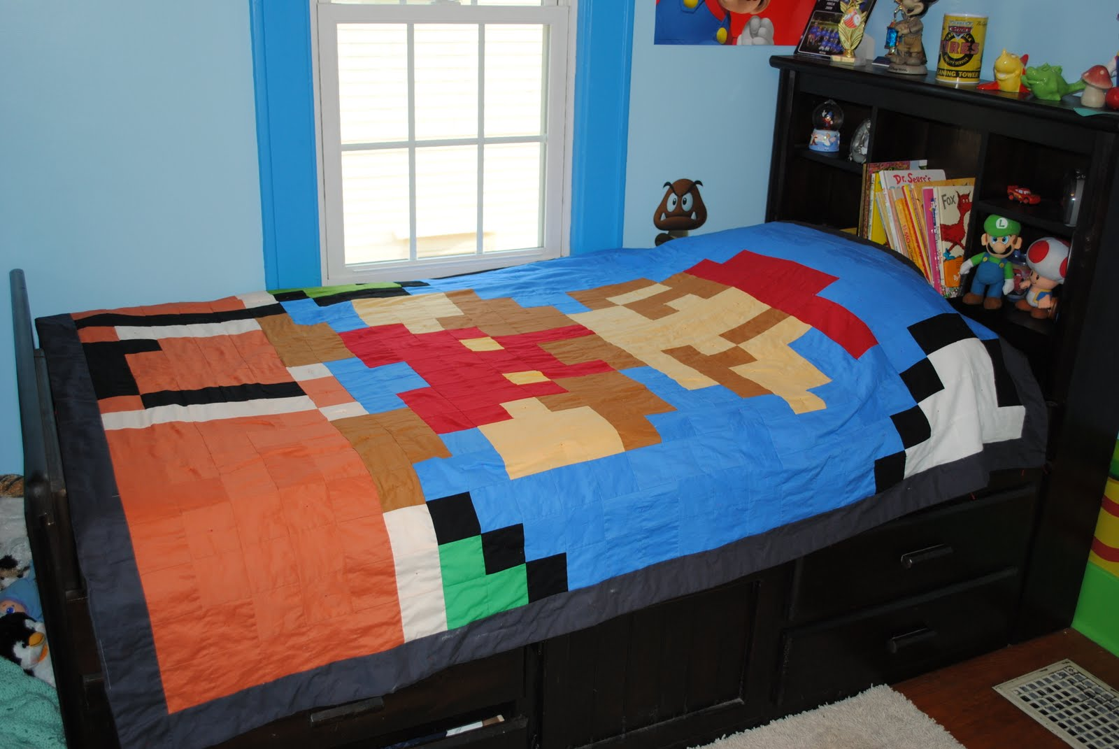 Mario Bedroom Latent Chestnut Super Mario Quilt