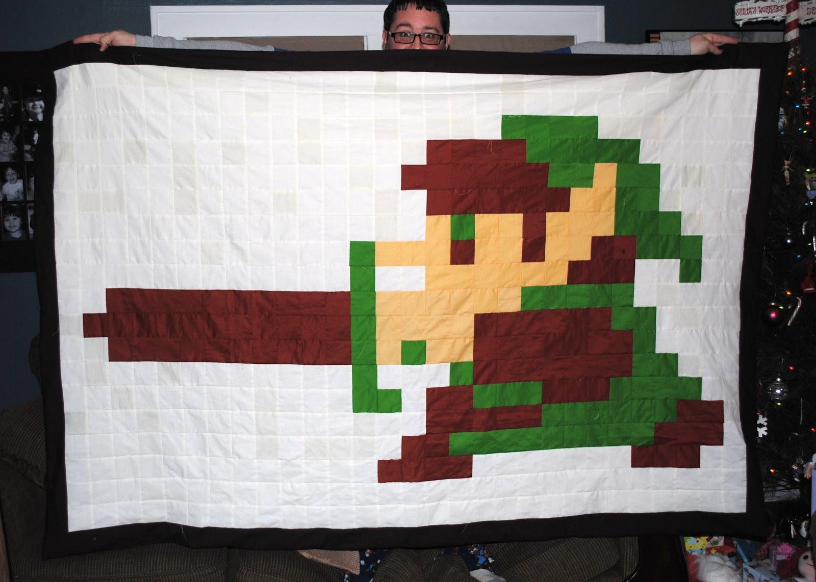 latent chestnut: The Legend of Zelda Link quilt : 8 bit quilt - Adamdwight.com
