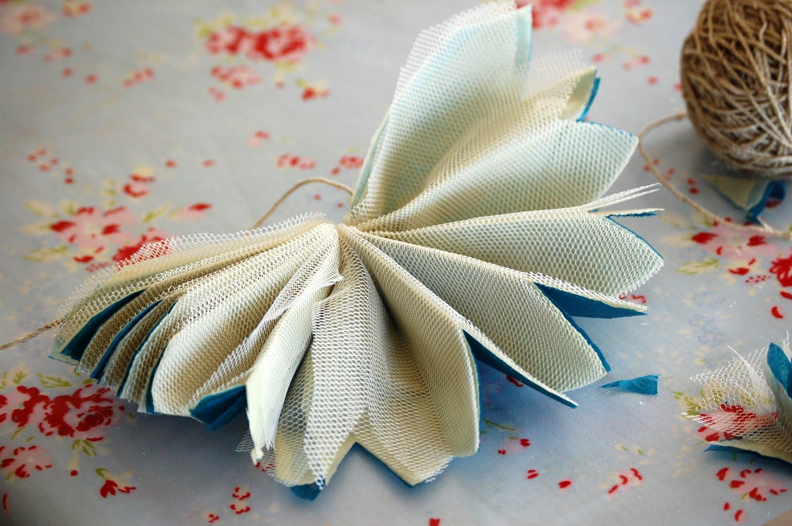 Цветы из тюли своими руками